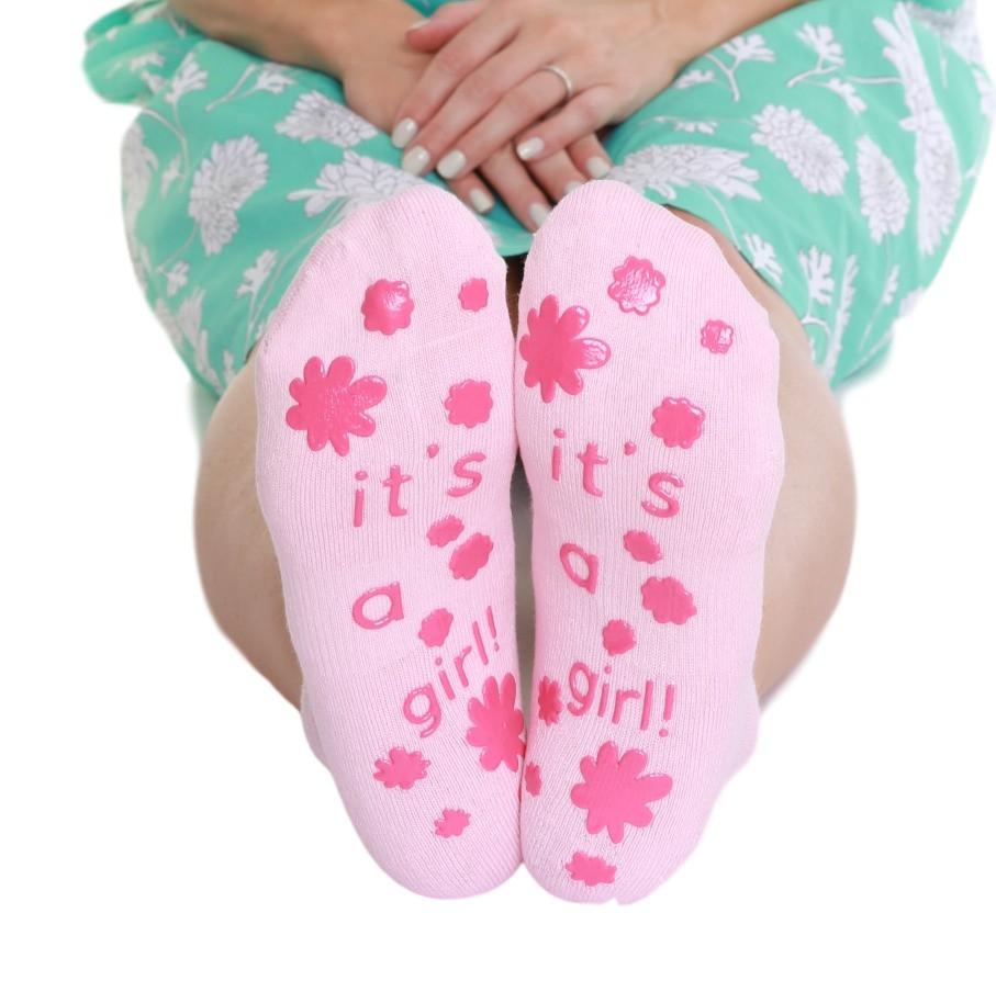 It's a girl labour socks