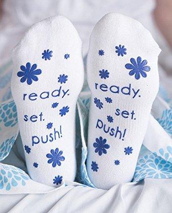 baby be mine non slip socks blue