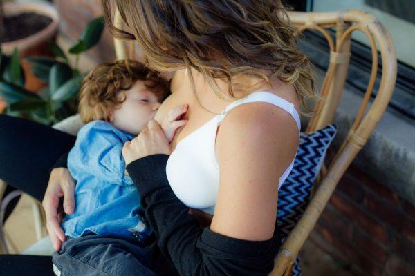 Bravado Body Silk Seamless Nursing Bra In Use