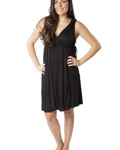 midnight black labor gown