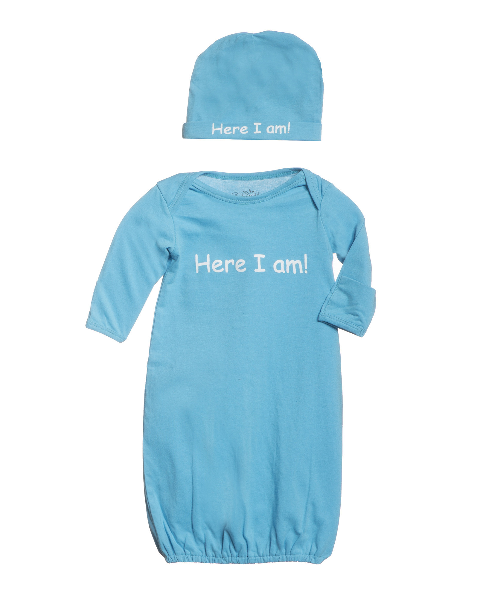 Here I am baby romper set