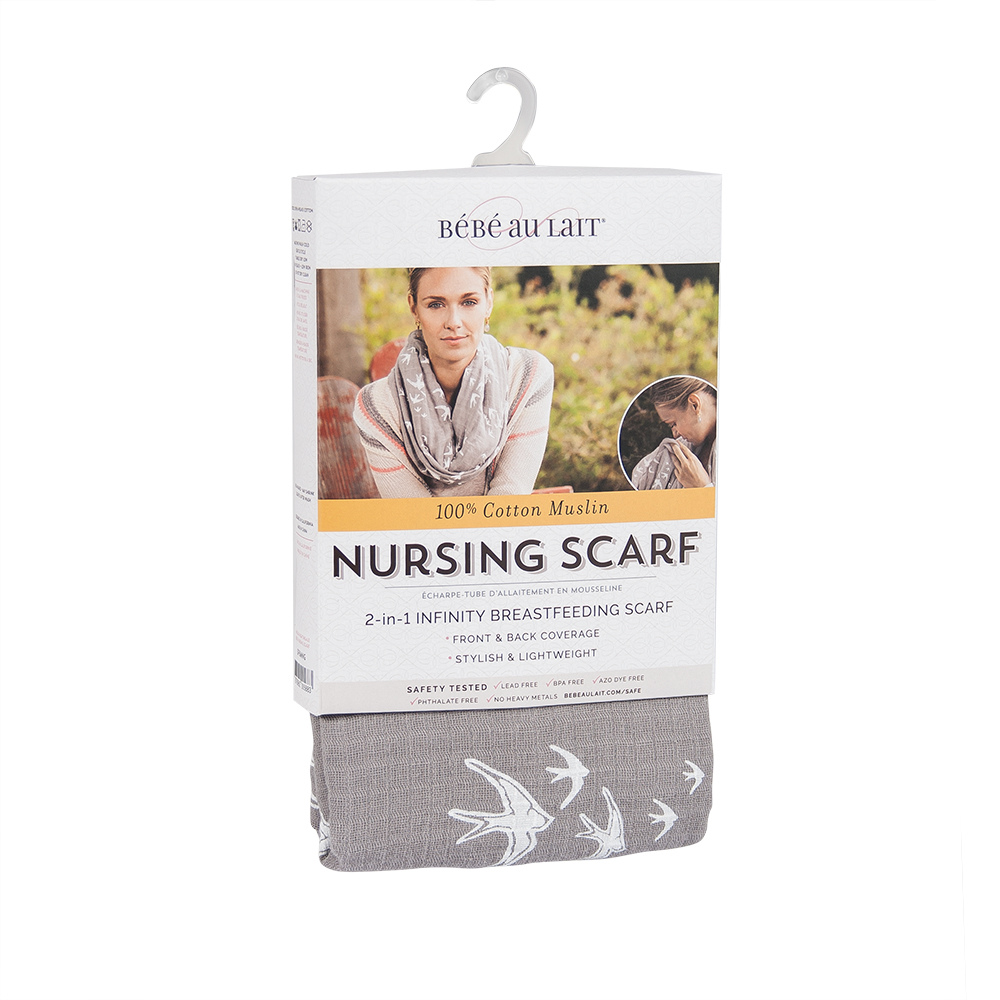 Nightingale Bebe au lait muslin nursing scarf packaging