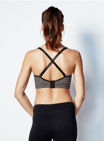 bravado body silk seamless yoga cross back