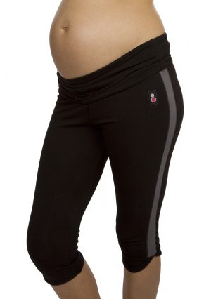 Fittamamma maternity exercise capris band rolled