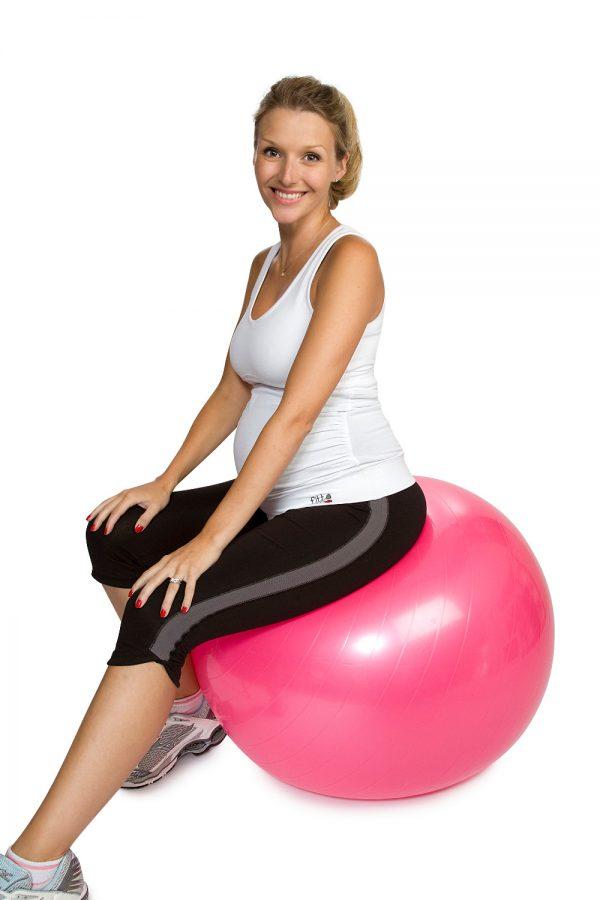 Supportive maternity fitness capri leggings