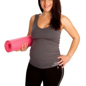 Fittamamma pregnancy workout support top charcoal