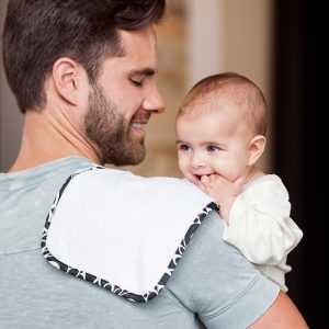Bebe au lait Tribeca burp cloth