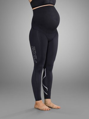 2XU Prenatal tights black and silver