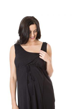 3 in 1 labour gown elastic neckline