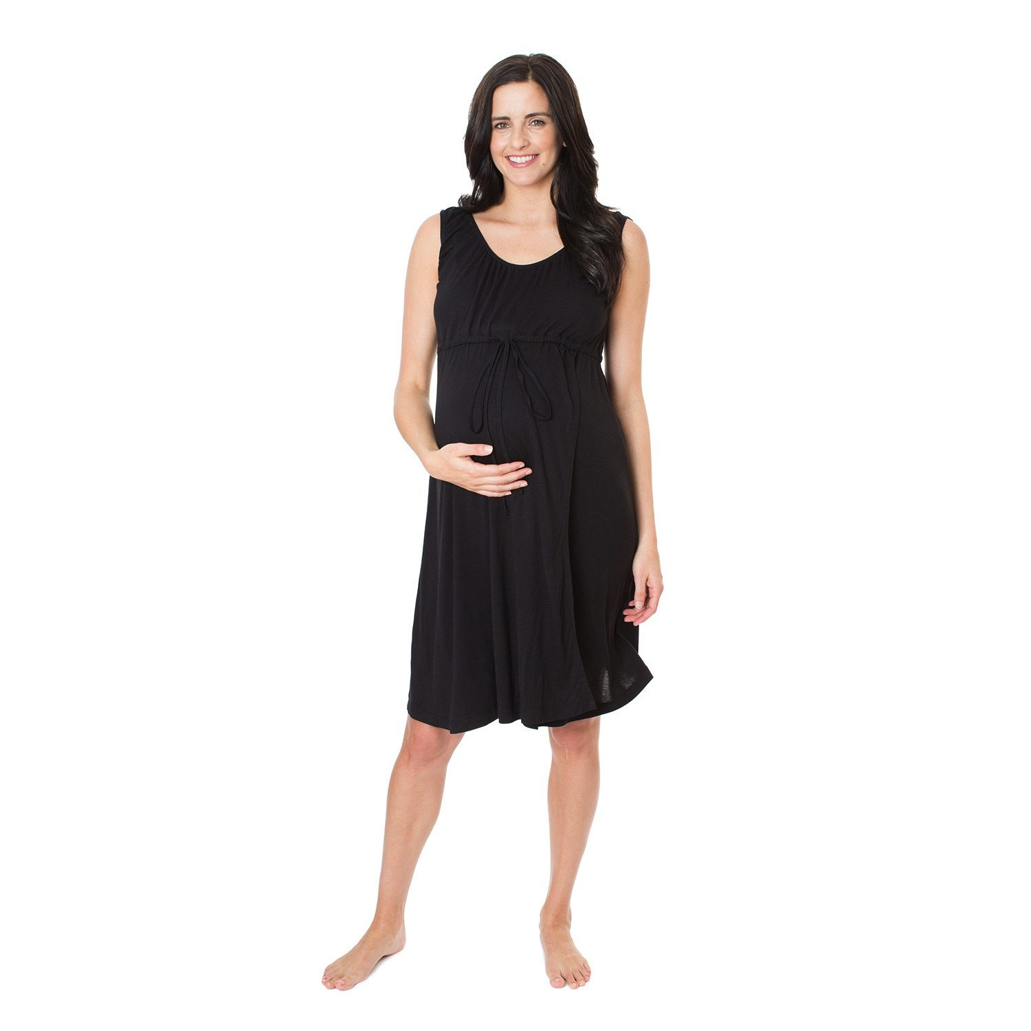 Simply Black 3 in 1 Labour, Delivery & Nursing Gown | DueSoon Australia