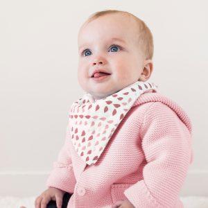 Bebe au lait Classic Muslin Bandana Rose Quartz