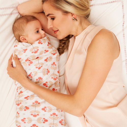 Bebe au lait Muslin Swaddle blanket Dewberry
