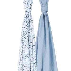 Bebe au lait Muslin Swaddle blankets Serenity and Sky