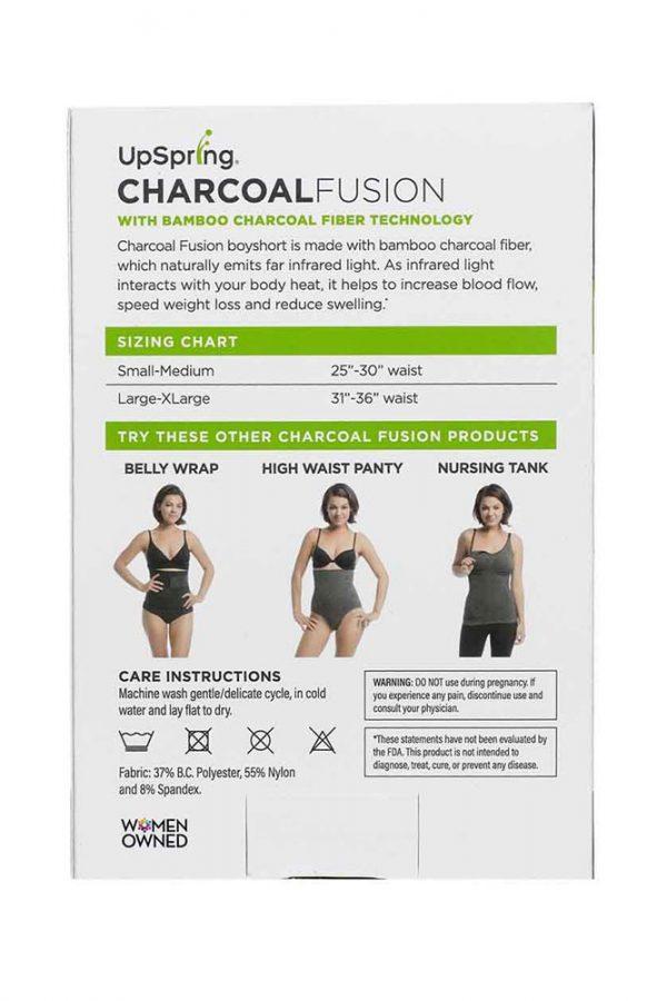 Charcoal Fusion Boyshort back of box