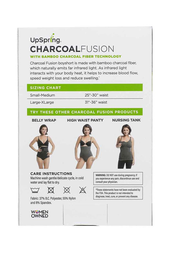 Charcoal Fusion Boyshort back of box