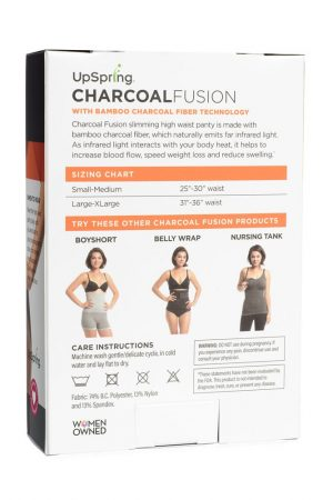 Charcoal Fusion High Waist Panty Back of Box