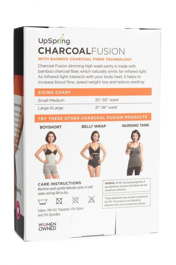 Charcoal Fusion High Waist Panty Back of Box