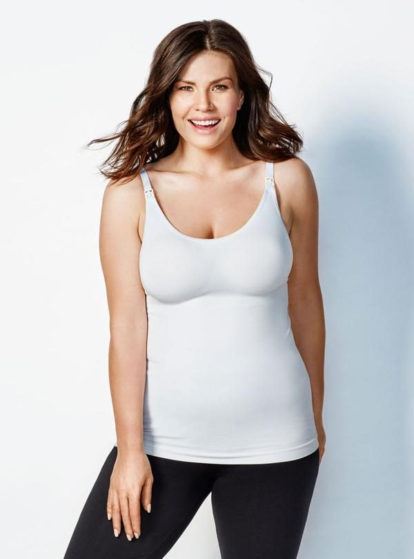 Bravado Body Silk Nursing Cami White