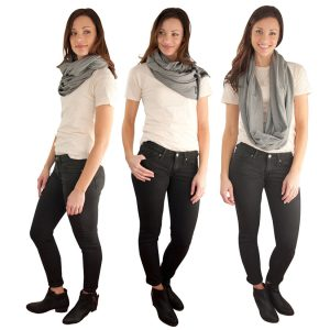 Ways to wear the Nuroo Nursing Scarf