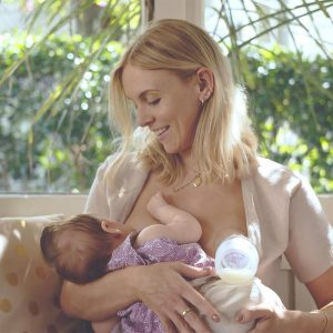 Generation 3 Silicone Breast Pump in use