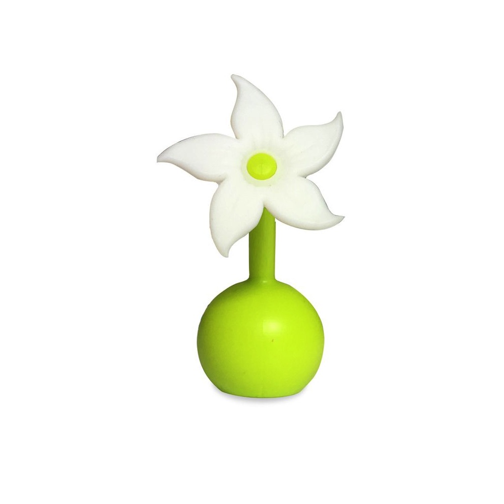 Haakaa Silicone Breast Pump Flower Stopper White